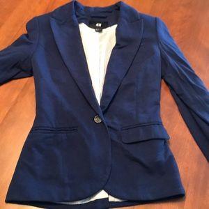 H&M size 2 navy soft blazer super cute